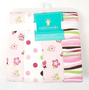 "Tiddliwinks Butterfly Receiving Blanket 30"" x 30"""